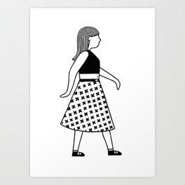 Gerd Girl Art Print