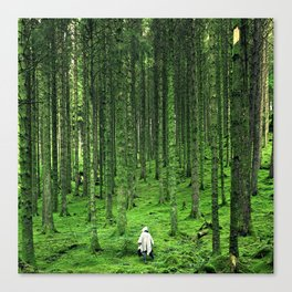 Green Wood Canvas Print