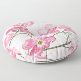 Pink Dogwood Floor Pillow