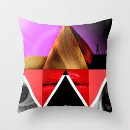 Pyramid of Women Throw Pillow
