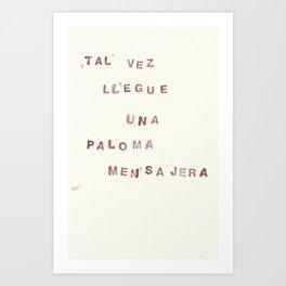 293 palomas mensajeras Art Print