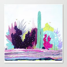 Cacti Watercolour Allsorts Canvas Print