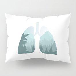 Inhale Nature   Clean Air Lung Breathing Pillow Sham