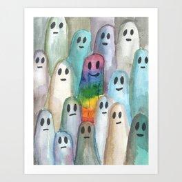 the rainbow gay ghost Art Print