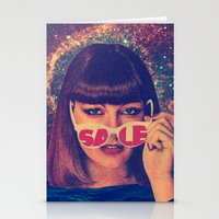 sale Stationery Cards featuring Sale! by Serra Kiziltas