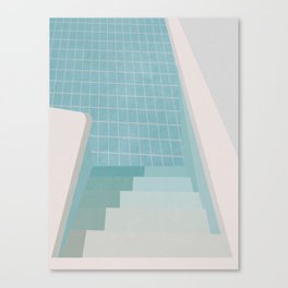 Swimming Pool Summer Canvas Print