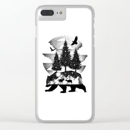 A NIGHT IN ALASKA Clear iPhone Case