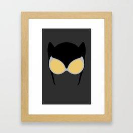 Catwoman Mask Framed Art Print