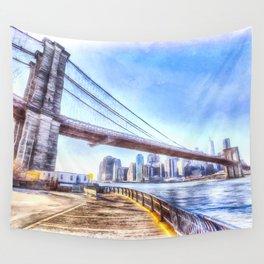 Brooklyn Bridge Art Wall Tapestry