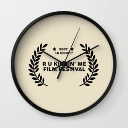 Film Festival Winner : Best 4K Short Wall Clock