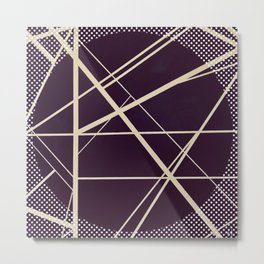 Crossroads - dot circle Metal Print