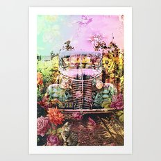 Driving Miss Daisy Art Print