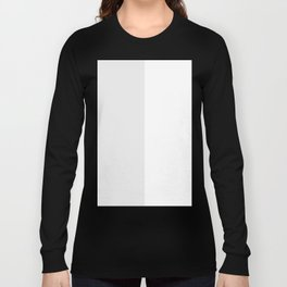 White and Pale Gray Vertical Halves Long Sleeve T-shirt