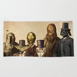 Victorian Wars (square format) Beach Towel