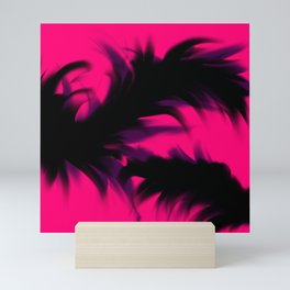 Feathered Smoked forms Mini Art Print