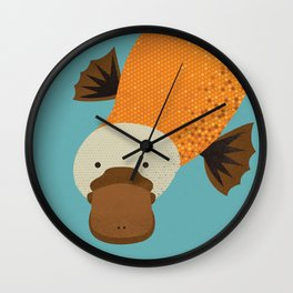 Whimsy Platypus Wall Clock