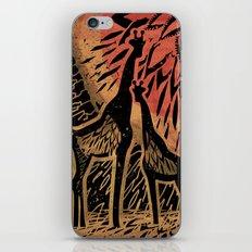 Giraffe Color Sunset iPhone Skin