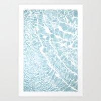 pool Art Prints featuring Pool by Claire Jantzen