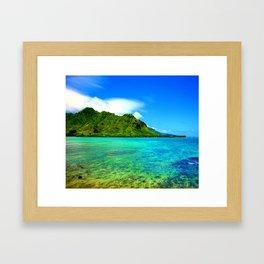 Kahana Bay ... By LadyShalene Framed Art Print