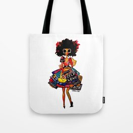 I Carry Nothing But My Self Worth Tote Bag