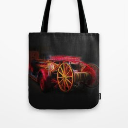 Fractal fire truck Tote Bag