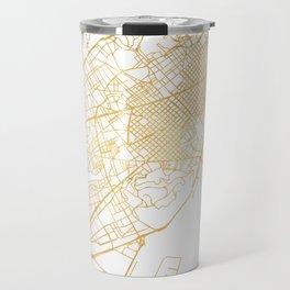 BARCELONA SPAIN CITY STREET MAP ART Travel Mug