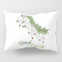 heather white flower Pillow Sham
