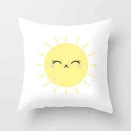 Sun Cute Eyes Throw Pillow