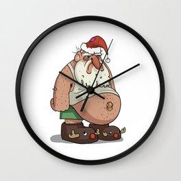 Grumpy Santa Wall Clock