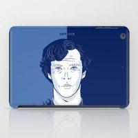 benedict cumberbatch iPad Cases featuring Sherlock I - Benedict Cumberbatch by Priscila Floriano