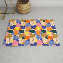 Colored Baby Chickens pattern Rug