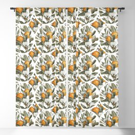 Orange Blossom Blackout Curtain