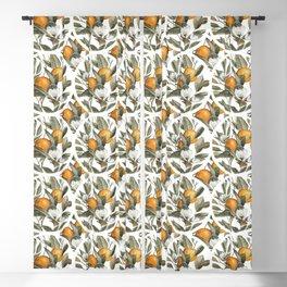 Blooming Citrus Watercolor Blackout Curtain