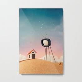 Stay at Home and Watch TV Metal Print