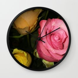 Roses of Love Wall Clock