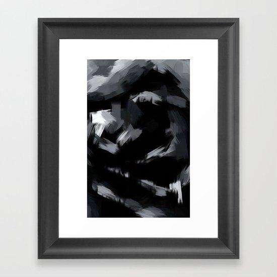 BLOSSOMS - BLACK Framed Art Print