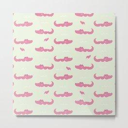 Modern pastel green pink cute funny crocodile Metal Print