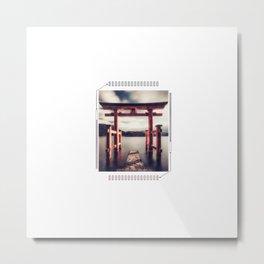 Japanese Street Aesthetic Graphic Tee Futuristic Metal Print