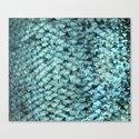 Blue aqua mermaid scales by peggieprints