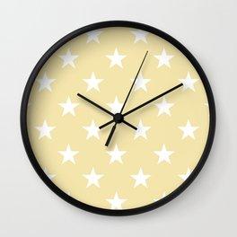 Stars (White/Vanilla) Wall Clock