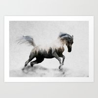 Art Prints featuring Horse by Andreas Lie