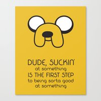 Wisdom From A Dog Canvas Print