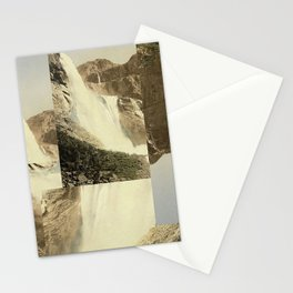 Digital Waterfall Collage Stationery Cards