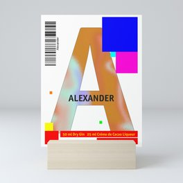 "Cocktail ""A"" - Alexander Mini Art Print"