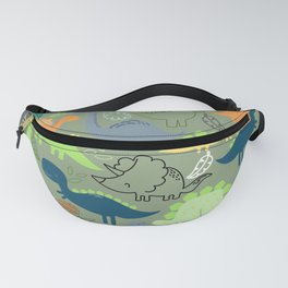 Dinosaurs jungle pattern Fanny Pack