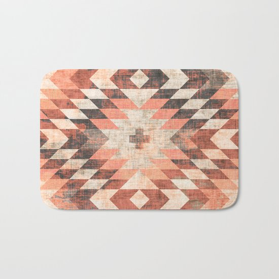 native coral diamond Bath Mat