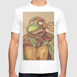 zombie ninja turtle T-shirt