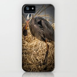 Heron and the mole iPhone Case