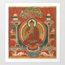 Preaching Sakyamuni 11th Century Tibetan Buddhist Art Art Print
