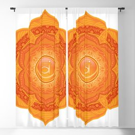 Sacral Mandala Chakra #05 Blackout Curtain